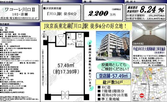 埼玉县川口市店铺138万人民币