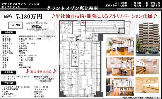 东京涩谷惠比寿公寓452万人民币