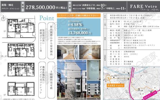 首付800万人民币贷款购买1720万东京都中野区公寓整栋
