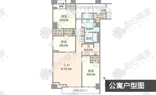 日本东京都新宿区曙桥公寓