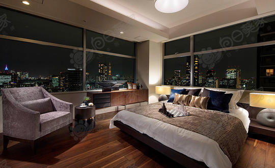 日本东京都港区六本木高级塔楼公寓