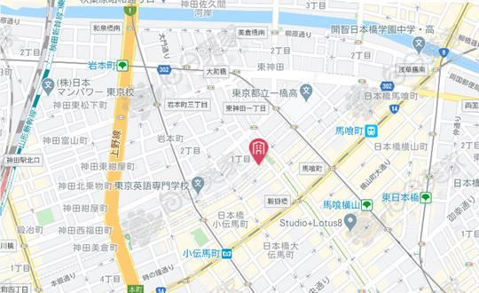 日本东京都千代田区岩本町3层公寓整层