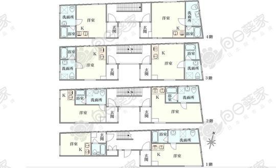 日本东京都世田谷区羽根木小户型公寓整栋