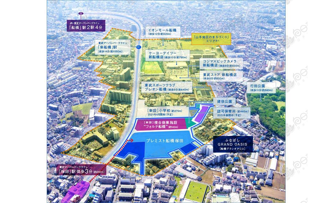 日本千叶县船桥市塚田新开发高级公寓