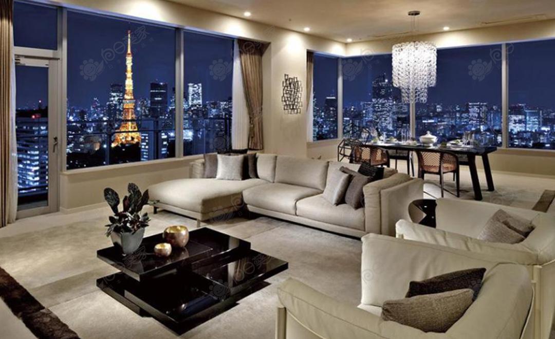 日本东京都港区芝3居室高层塔式公寓