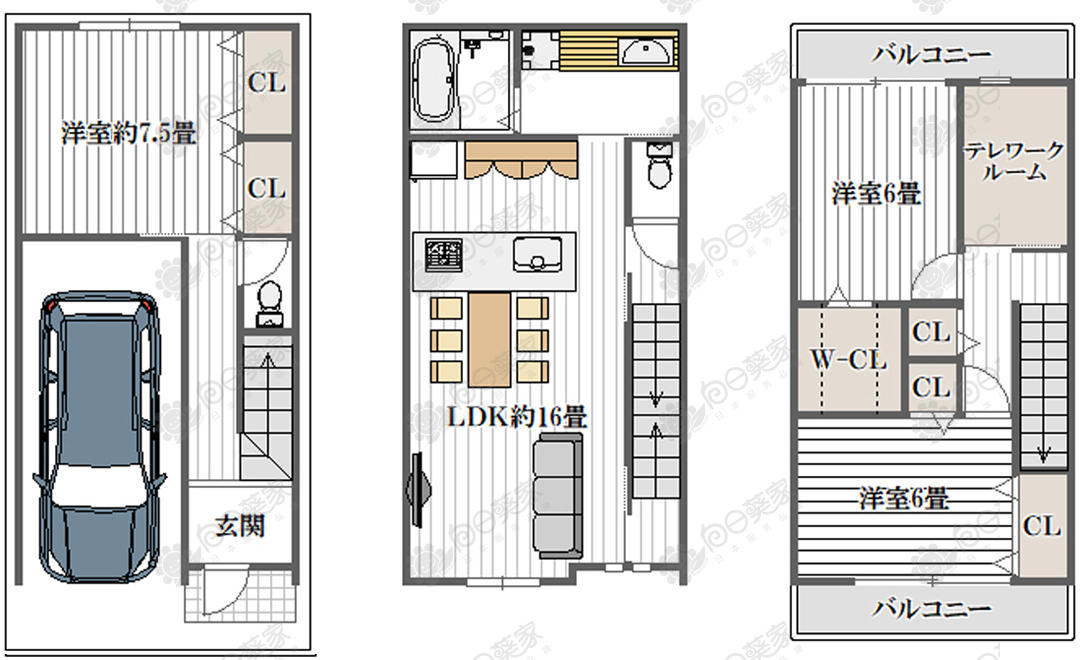 日本大阪市平野区喜连翻新3居室一户建