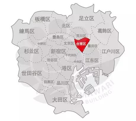 东京23区地图
